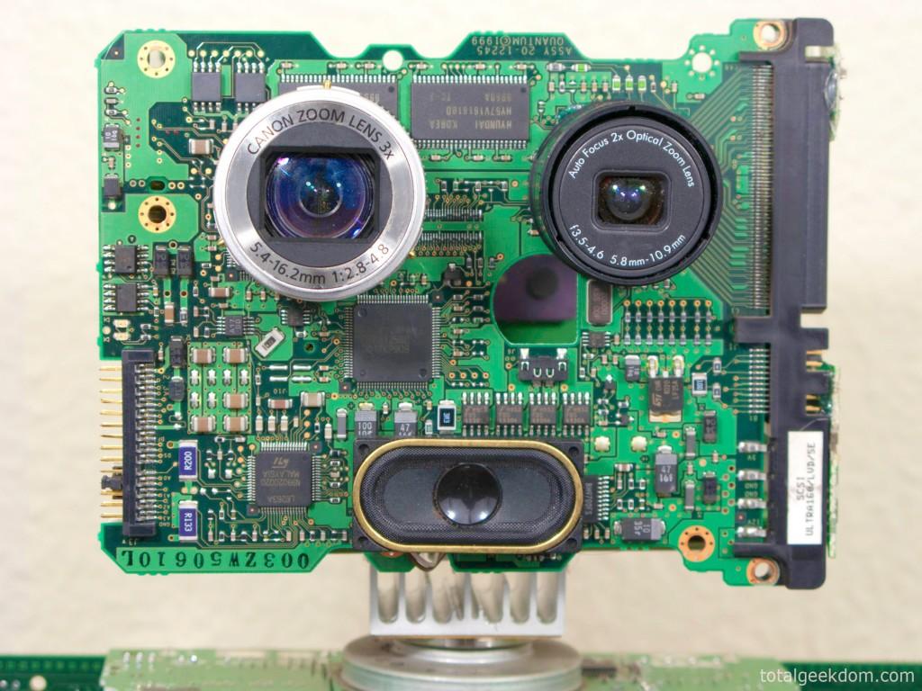 Computer Parts Robot Face