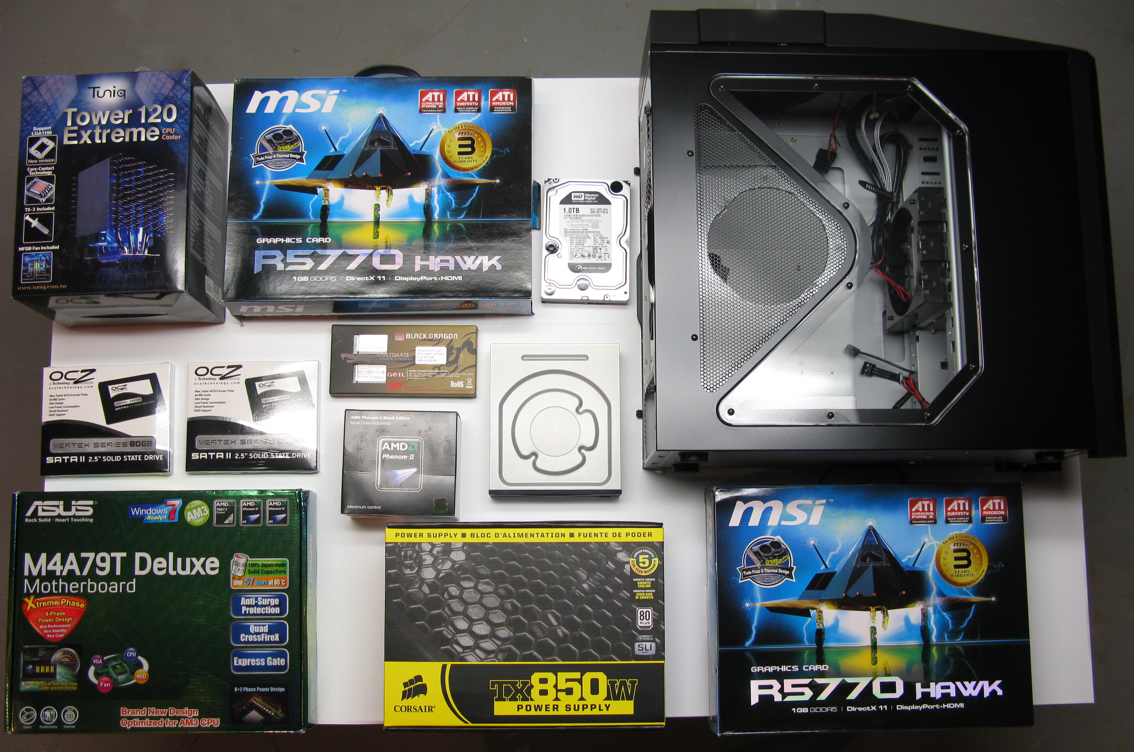 Pc Gaming Computer Build With Ati Crossfire And Raid Ssd