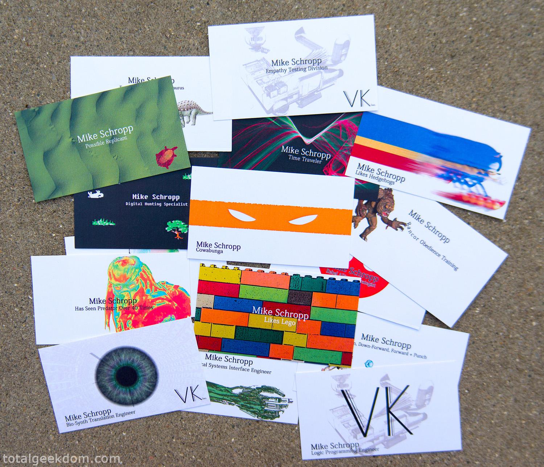 Geeky Business Card Designs Total Geekdom