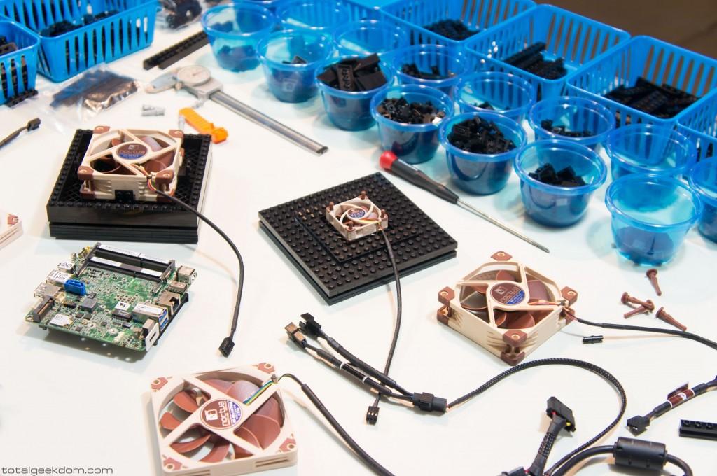 Micro Lego Computer Fan Testing