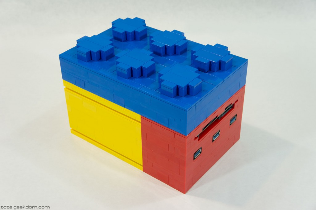 Micro Lego Computer Hard Drive on Top